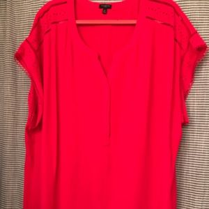 Woman's beautiful Talbots short sleeves blouse